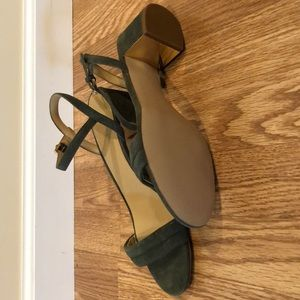 Talbots Shoes - Talbots Olive green suede sandals